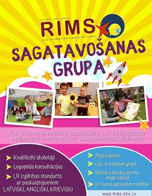 RIMS sagatavošanas grupas 0.klasē ir iespējams savam bērnam nodrošināt individuālu, trīs-valodu izglītības ieguvi starpautiskā vidē